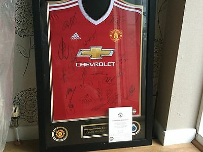 Manchester United Squad Signed &framed Shirt Official Man Utd Club Issued Coa