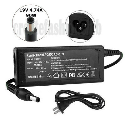 AC Adapter Charger for Toshiba PA5035U-1ACA Laptop Power Supply Cord 19 Volt 90W