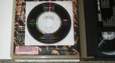 OASIS Japan PROMO CD SINGLE + VIDEO limited edition set - RARE! Noel Gallagher