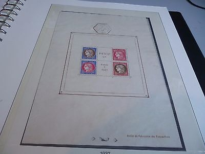 France Bloc Feuillet N° 3 Obliteration Hors Timbres  Cachet Exposition