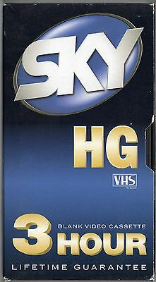 Blank VHS Video Tape - Sky E180 - 3/6 Hour - May have old TV Recordings