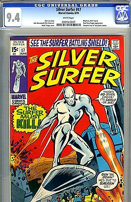 Silver Surfer #17  CGC GRADED 9.4 - third highest graded - white pages