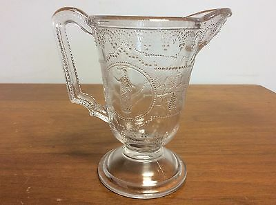Vintage Elegant Clear Pressed Glass Pitcher Classic