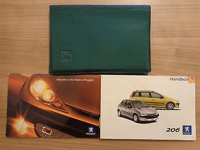 Peugeot 206 Owners Handbook Manual and Wallet 02-04