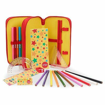 NEW! Art101 25-Piece FAO Schwarz Zippered Art Set