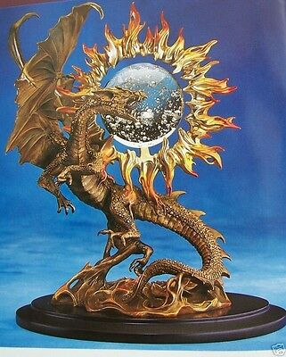"NIB FRANKLIN MINT 2001 BRONZE DRAGON OF TRIUMPH JULIE BELL 12"" 12LB New in Box"