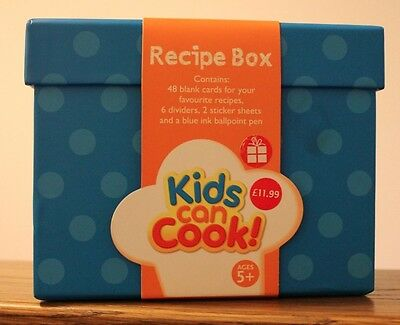 KIDS CAN COOK Recipe Organiser Box for Children Ages 5+ BRAND NEW & UNOPENED