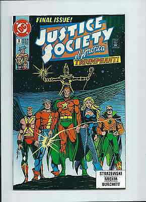 Justice Society of America #8 DC 1991 NM 9.4 Final issue.