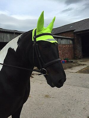Hi viz fly veil ear bonnet. Yellow