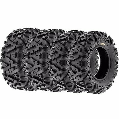 Set of 4 22x7-12 (2) & 22x10-12 (2) ATV UTV Tires / 6PLY Rated A033
