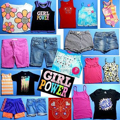 NICE Lot 17pc girls Spring Summer clothing Sz 10 Tops Shorts FAST SHIP~S41