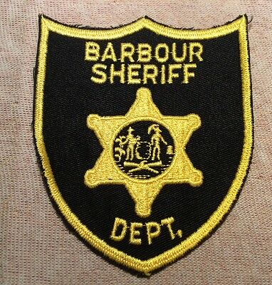 WV Vintage Barbour County West Virginia Sheriff Patch