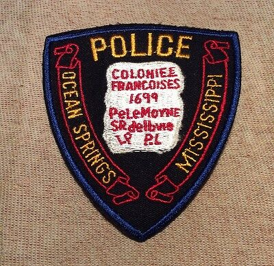 MS Ocean Springs Mississippi Police Patch