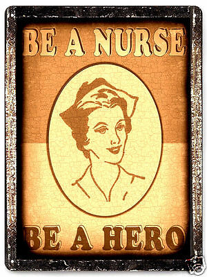 RN NURSE metal sign VINTAGE style doctor office wall decor art great gift 415