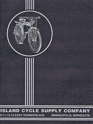 1938 ISLAND CYCLE SUPPLY antique bicycle CATALOG Pierce and Rollfast bikes