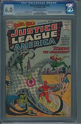 Brave and the Bold 28 CGC 6.0 Silver Age Key DC 1st Justice League IGKC L@@K