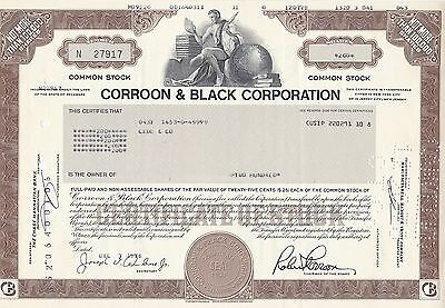 Corroon & Black Corporation-shares 200- von 1978
