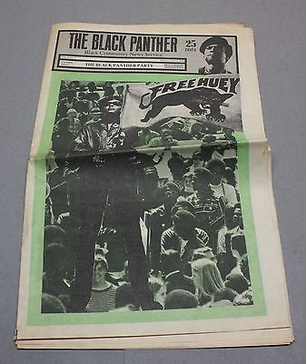 1969 Black Panther Party Newspaper w/ Free Huey Newton Cover + Emory Douglas