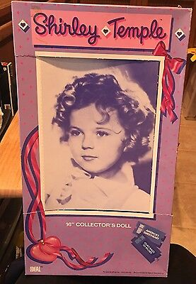 """Shirley Temple 16""""  Doll Box & Hang Tag (No Doll)  #10499 Glad Rags To Riches"""