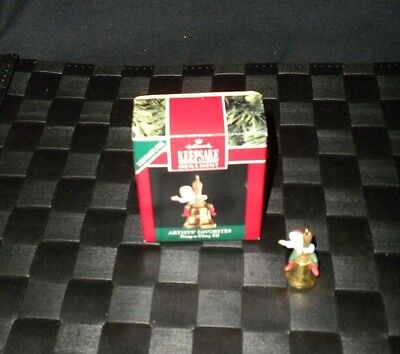 "1991 Hallmark Keepsake Miniature Christmas Ornament ""Ring-A-Ding Elf"""