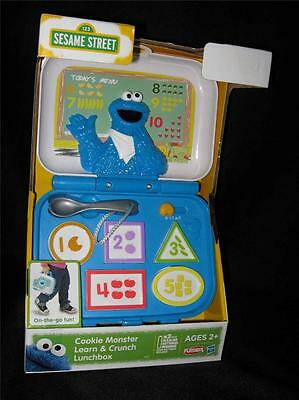 NEW ~ Sesame Street COOKIE MONSTER LEARN & CRUNCH LUNCHBOX Numbers Shapes Colors