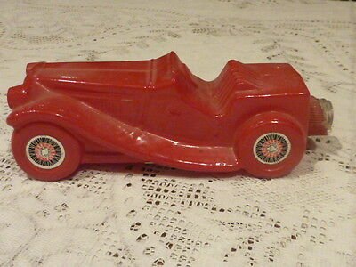 Avon Cologne Decanter Red Paint Glass 1936 Mg Car  (Empty)