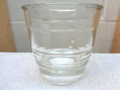 """Vintage 3 Cup Glass Measuring Cup~Bowl~4 7/8"""" x 4 5/8"""""""