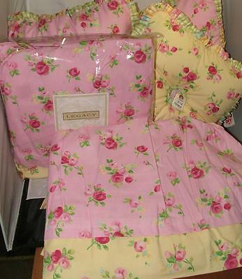 Neiman Marcus Horchow Legacy Pair Twin Bed Skirts & Pillows JOY PINK AUBRI $850