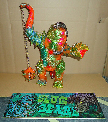 "Paul Kaiju - Slug Beard ""Golden Treasure"" version - Sofubi Toy Medicom sofvi"