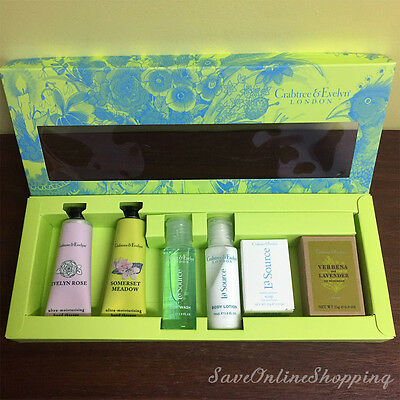 NEW Crabtree & Evelyn Hand Therapy Body wash lotion Soaps Gift Set 50%OFF SALE