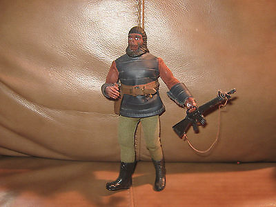 Planet of the Apes Mego Gorilla Soldier with bandolier and gun, green leggings