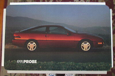 "Ford Probe 1991 Dealer Showroom Promotional Photo/Poster 22 1/2"" x 14"""