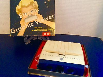 Vintage Graflex Stereo Viewer In It's Original Box With Instruction
