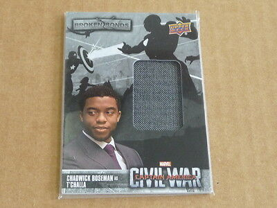 2016 UD MARVEL Captain America CIVIL WAR T'CHALLA RELIC SWATCH O8610