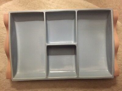 Fantastic Vintage Retro Poole Divided Serving Dish Twintone