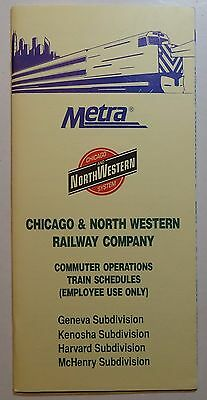 Chicago & North Western Ry - Metra Railroad 1995 Chicago Commuter Operations