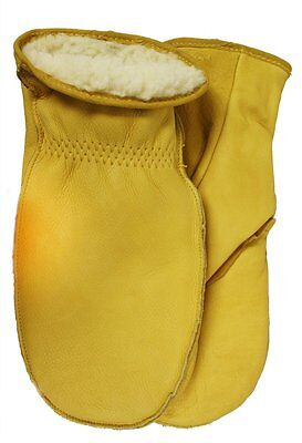 American Made Cowhide Leather MittGloves, Size:9, Tan by Midwest [9200PL-9-AZ-6]
