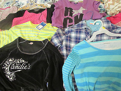LOT 20 PCS Girls Clothes Size 14 16 Brand Names Tops Bottoms Jacket Cardigan