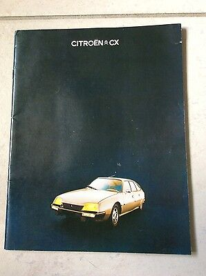 Catalogue, publicité de Citroën CX de 1976