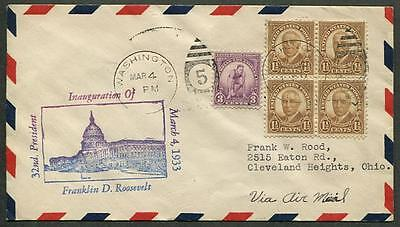 Franklin D. Roosevelt First Inauguration March 4 1933 Washington DC #2