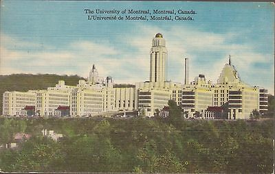The University of Montreal Quebec Canada Vintage Postcard 909