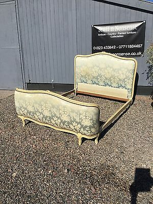 French vintage Louis style corbielle double bed