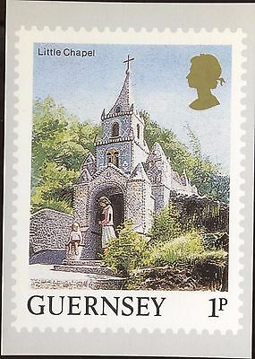 Definitive Stamp Issue Guernsey Little Chapel Postcard C245