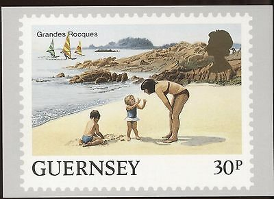 Definitive Stamp Issue Grandes Rocques Guernsey Postcard C276
