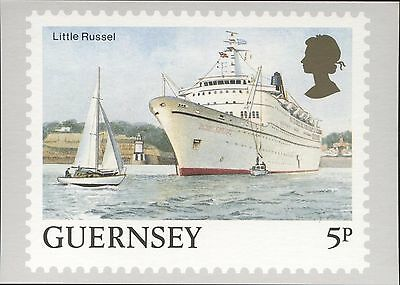 Definitive Stamp Issue Little Russel Guernsey Postcard C305