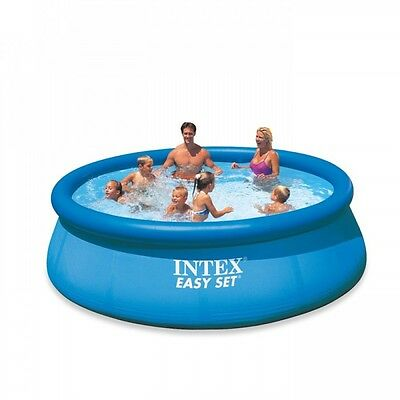 Intex Easy Set Inflatable PVC Round Kids Swimming Paddling Pool - 12ft x 30in