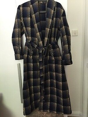 "Vtg 50/60s Men's Smoking Jacket Host House Coat Noel Coward 40"" Chest"