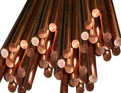 8mm C101 Pure 99.9% COPPER ROUND BAR COPPER ROD Choose a Length