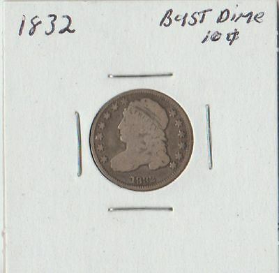 1832 Capped Bust Dime-Very Good/Fine