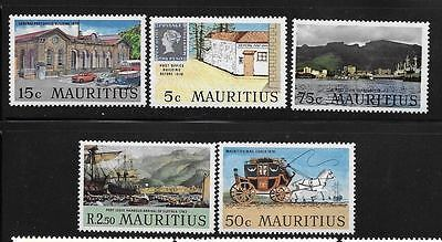 Mauritius 1970 General Post Office Port Louis Ship mail coach MNH